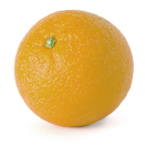 This shows a photo of an orange.
