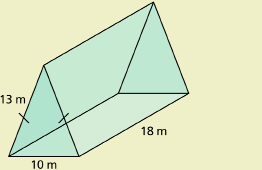 This shows an illustration of a triangular prism.