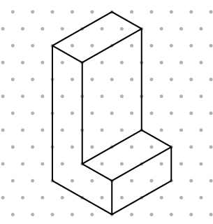 Isometric Dot Paper Drawings on isometric dot paper